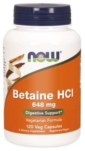 BETAINE HCl 648 mg 120 kaps.